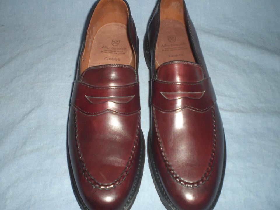 82f16df347c Allen Edmonds Burgundy 4839 Randolph Loafers Shoes Image 0 ...