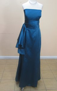 Alfred Angelo Tealness Satin 7124 Formal Bridesmaid/Mob Dress Size 14 (L)
