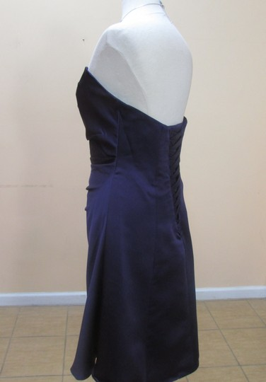 Alfred Angelo Eggplant Satin 7041s Formal Bridesmaid/Mob Dress Size 10 (M)