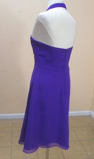 Alfred Angelo Viola Chiffon 7172 Formal Bridesmaid/Mob Dress Size 14 (L)