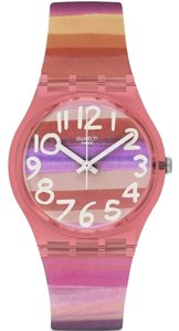 Swatch Swatch Women's Silicone Plastic Case Mineral Glass Quartz Watch GP140