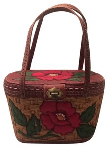 Isabella Fiore Tote in Tan, Red, Green