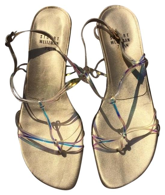 Item - Holographic/Gold Jelly Strap Sandals Size US 7.5 Regular (M, B)