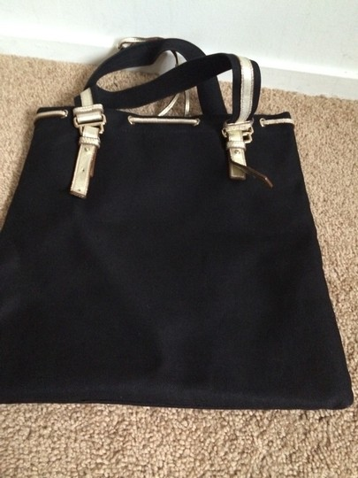 Saint Laurent Tote in Black And Gold