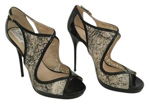 Jimmy Choo Store Display Never Been Worn See Pictures Leondra Stunning BLACK & IVORY Pumps