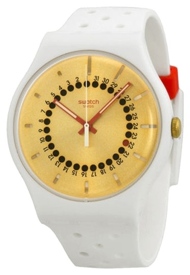 Swatch Swatch Male Casual Watch SUOW400 White Analog