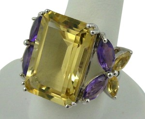 Graziela for Rarities Graziela for Rarities 12ct Honey Quartz Ring - Size 5