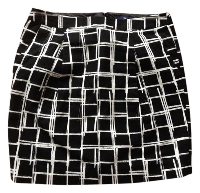 Gap Mini Skirt Black, White checkered