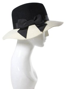 Kate Spade NWT KATE SPADE NEW YORK Hats Off Black Ivory Wool Wide Brim Fedora Hat-HOLD FOR JULIE JC