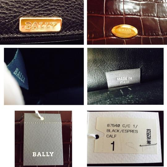 Bally Calfskin Women Crossbody Moc Croc Shoulder Bag