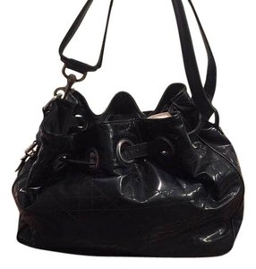 Dior Patent Leather Tote Hobo Bag