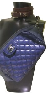 Chanel Fanny Pack Classic Retro Navy Blue Clutch