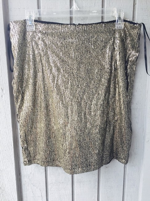 Kardashian Kollection Sequin Mini Skirt Gold