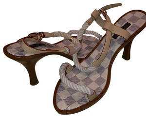 Louis Vuitton Damier Azur (cream/grey) Sandals