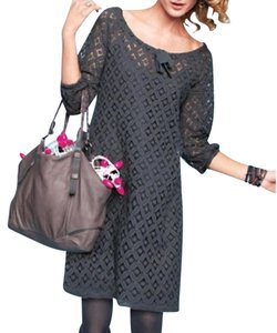 Garnet Hill Shift Lace 3/4 Sleeve Cotton Dress