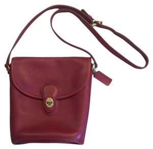 Coach Leather Flapover Cross Body Bag