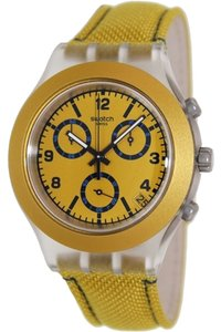 Swatch Swatch Unisex Fashion Watch SVCK4069 Yellow Analog