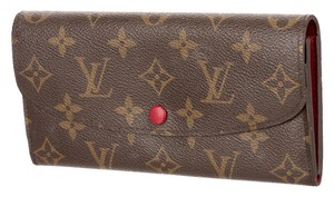 Louis Vuitton Brown, tan LV monogram leather Louis Vuitton Emilie Wallet