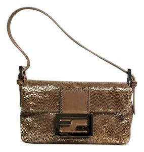 Fendi Beaded Vintage Satchel in Peach