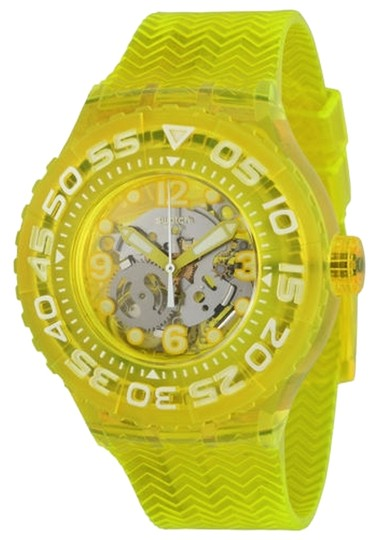 Swatch Swatch Male Casual Watch SUUJ101 Yellow Analog