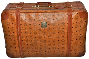 MCM Visetos Suitcase Luggage Trunk Brown Travel Bag