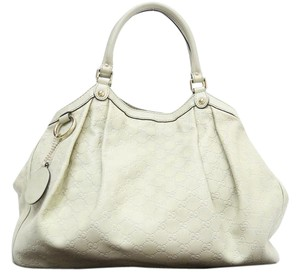 Gucci Sukey Leather Tote Hobo Bag