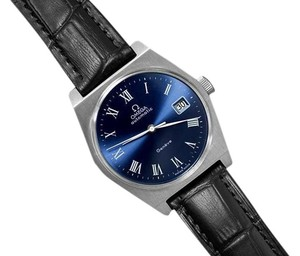 Omega 1973 Omega Geneve Vintage Mens Dress Watch with Quick-Setting Date - Stainless Steel