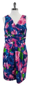 Shoshanna short dress Pink Blue Green Floral on Tradesy