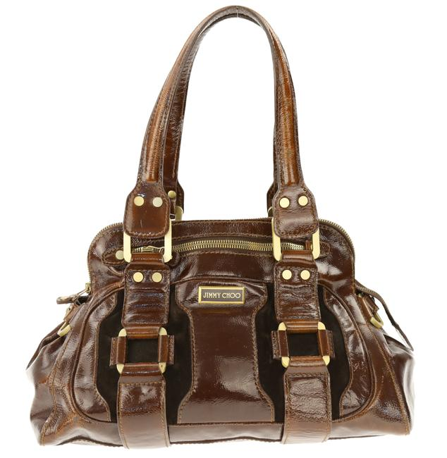 Item - Malena Brown Patent Leather Hobo Bag