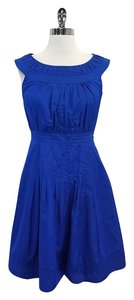 Escada short dress Blue Boat Neckline on Tradesy