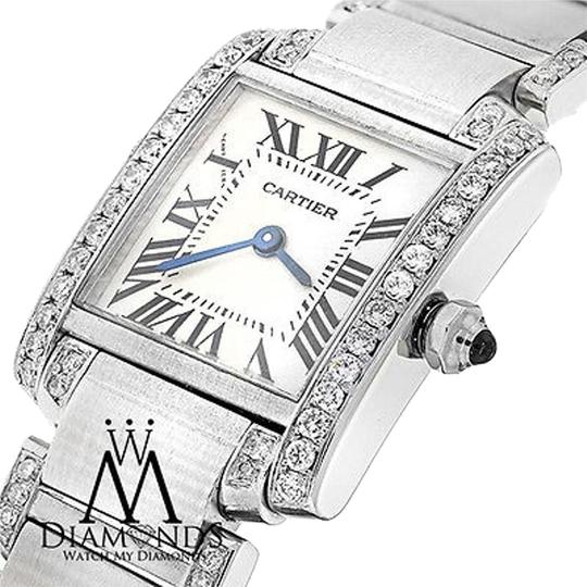 Preload https://img-static.tradesy.com/item/15804727/cartier-ladies-tank-w51008q3-with-natural-diamonds-stainless-steel-watch-0-1-540-540.jpg