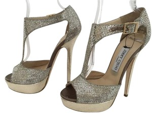 Jimmy Choo Tease Store Display Never Worn Stunning Glitter SILVER Pumps