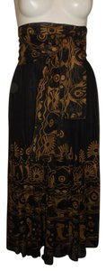 Together Vintage Maxi Skirt black & gold