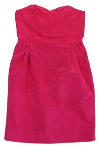 LulaKate short dress Pink Pleat Detail Strapless on Tradesy