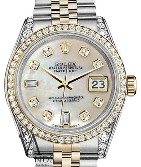 Preload https://img-static.tradesy.com/item/15805405/rolex-stainless-steel-gold-mm-datejust-white-mop-diamond-dial-watch-0-1-540-540.jpg