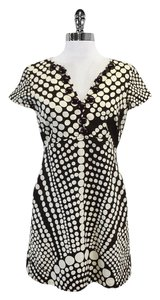 MILLY short dress Brown & Cream Polka Dot Short Sleeve on Tradesy
