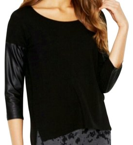 Kensie 3/4 Sleeve T Shirt Black
