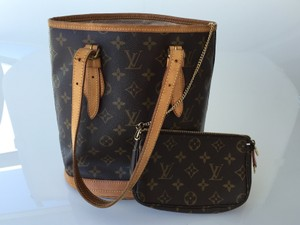 Louis Vuitton Bucket Canvas Tote in Monogram