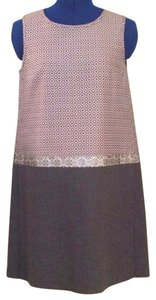 Max Mara Winter Metallic Shift Designer Dress