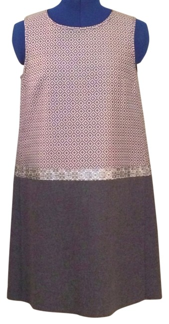 Max Mara Metallic Shift Designer Dress