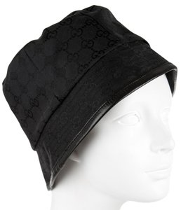 Gucci Black Guccissima monogram Gucci logo bucket hat