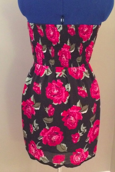 BCBGeneration Night Out Girly Floral Strapless Dress