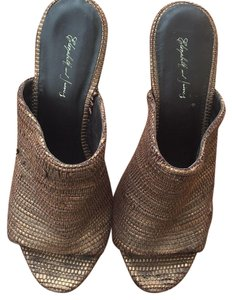 Elizabeth and James Bronze Mules