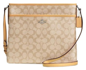 Coach Signature File Cross Body Khaki/Canary Messenger Bag