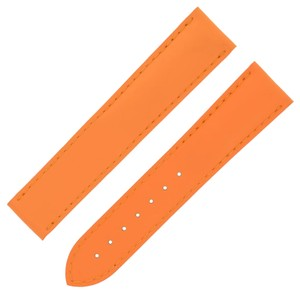 Omega Omega 98000185 20-18 mm Orange Vulcanised Rubber Band for 42mm (7450)