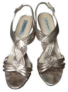 L.K. Bennett Gold or pewter Wedges