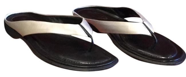 Tod's Silvery White & Black. Sandals Size US 7 Regular (M, B) Tod's Silvery White & Black. Sandals Size US 7 Regular (M, B) Image 1