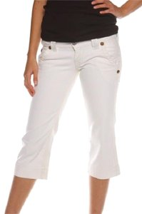 True Religion Capris Optic White