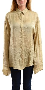 Versace Button Down Shirt Beige