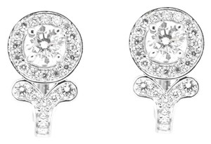 Other 18K White Gold Hoop Earrings 0.64Ct Clarity Enhanced Diamonds Earrings